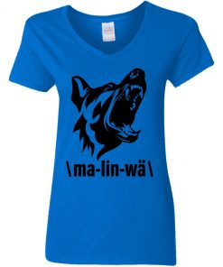 Private: Ma-lin-wa Belgian Malinois Women's V-Neck T-Shirt