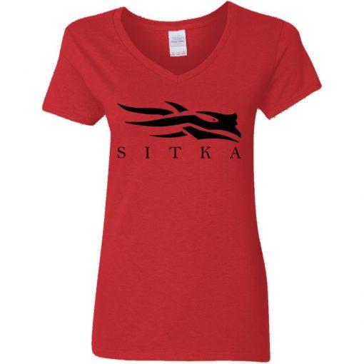 Private: Sitka Logo Women's V-Neck T-Shirt