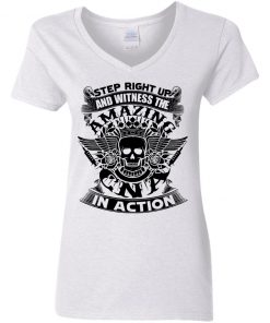 Private: Step Right Up and Witness The Amazing Electrician in Action Women's V-Neck T-Shirt