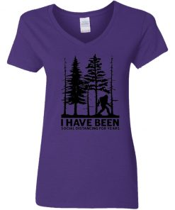 Private: I've Been Social Distancing for Years Women's V-Neck T-Shirt