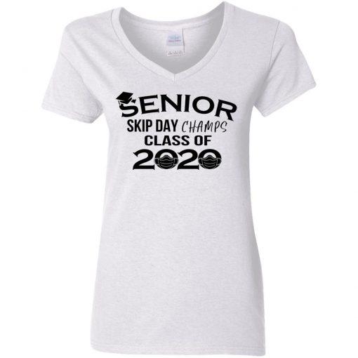 Private: Senior Skip Day Champs Class of 2020 Women's V-Neck T-Shirt