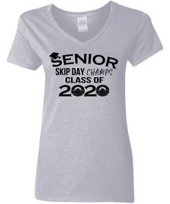 Private: Senior Skip Day Champs Class of 2020 Women's V-Neck T-Shirt