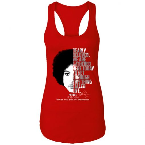 Private: Prince 1958-2016 Thank You For The Memories Racerback Tank