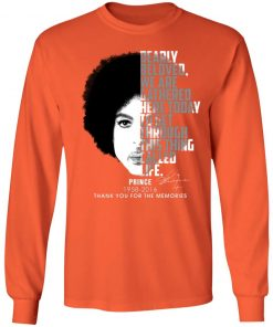 Private: Prince 1958-2016 Thank You For The Memories LS T-Shirt