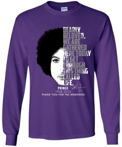 Private: Prince 1958-2016 Thank You For The Memories Youth LS T-Shirt