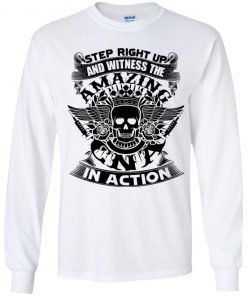 Private: Step Right Up and Witness The Amazing Electrician in Action Youth LS T-Shirt
