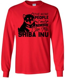 Private: The More People I Meet The More I Love My Shiba Inu Youth LS T-Shirt
