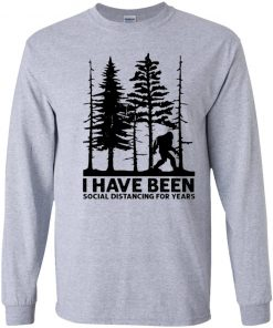 Private: I've Been Social Distancing for Years Youth LS T-Shirt