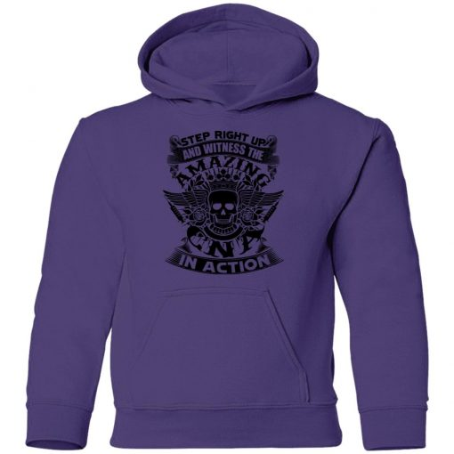 Private: Step Right Up and Witness The Amazing Electrician in Action Youth Hoodie