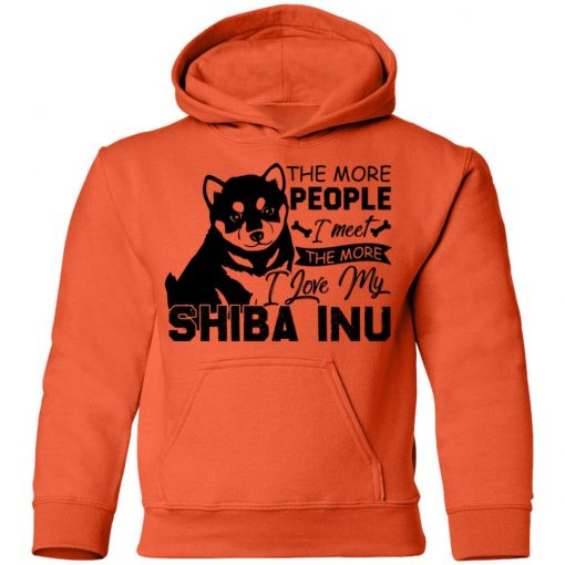 Private: The More People I Meet The More I Love My Shiba Inu Youth Hoodie