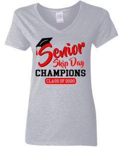 Private: Seniors 2020 Skip Day Champions 2020 Women's V-Neck T-Shirt