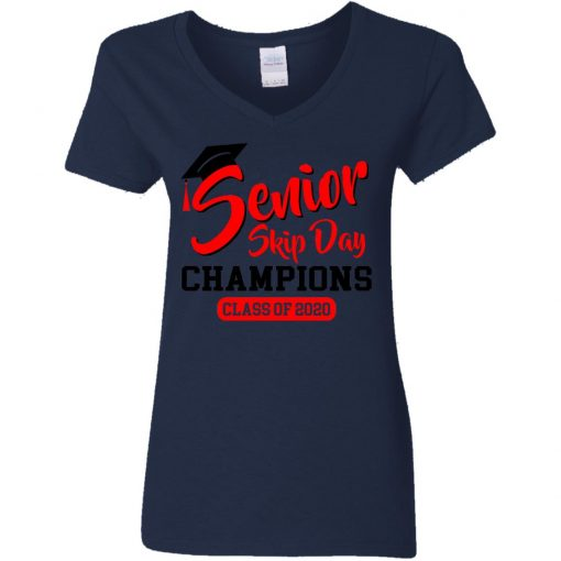 Private: Seniors 2020 Skip Day Champions 2020 Women's V-Neck T-Shirt
