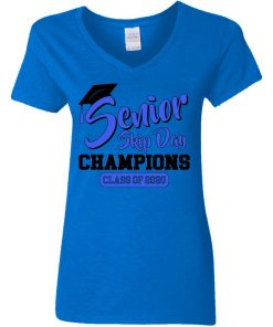 Private: Senior Skip Day Champions Funny Women's V-Neck T-Shirt