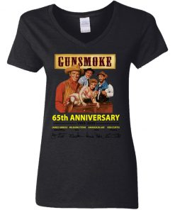 Private: Gunsmoke 65th Anniversary Women's V-Neck T-Shirt