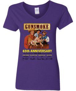Private: Gunsmoke 65th Anniversary Women's V-Neck T-Shirt