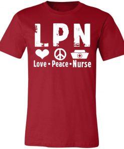 Private: Peace Love Nurse Unisex Jersey Tee