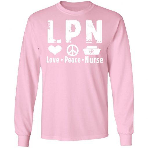Private: Peace Love Nurse LS T-Shirt