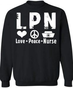 Private: Peace Love Nurse Sweatshirt