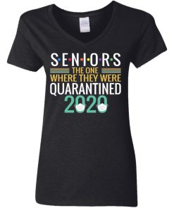 Private: Seniors The One Where They Were Quarantined 2020 Women's V-Neck T-Shirt