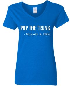 Private: Pop The Trunk Malcolm X 1964 Women's V-Neck T-Shirt