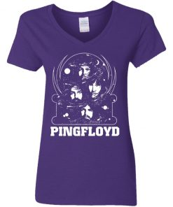 Private: PINK FLOYD Pyramid Band Women's V-Neck T-Shirt