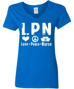 Private: Peace Love Nurse Women's V-Neck T-Shirt