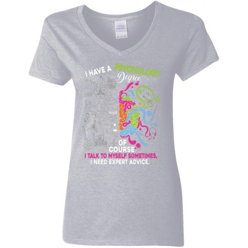 Private: I Have A Psychology Degree Women's V-Neck T-Shirt