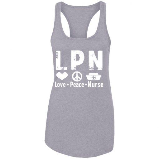 Private: Peace Love Nurse Racerback Tank