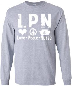 Private: Peace Love Nurse Youth LS T-Shirt