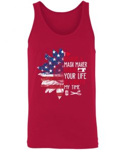 Private: I Became a mask Maker Because Your Life is Worth My time Unisex Tank