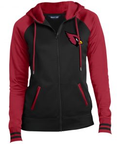 Private: Arizona Cardinals Ladies' Moisture Wick Full-Zip Hooded Jacket