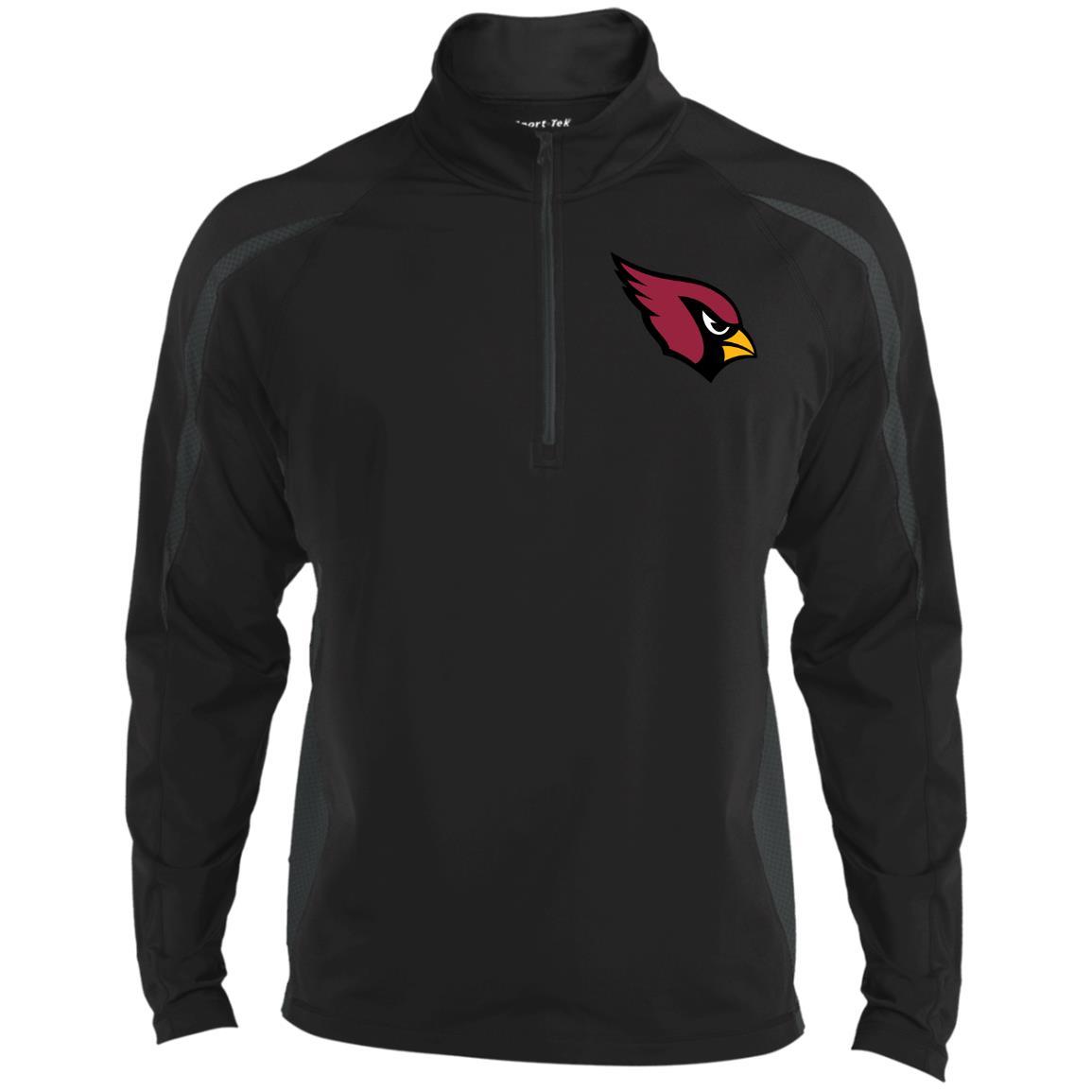 Private: Arizona Cardinals Men's Sport Wicking Colorblock 1/2 Zip