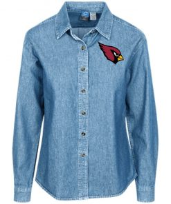Private: Arizona Cardinals Women's LS Denim Shirt