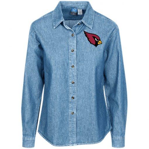Private: Arizona Cardinals Women's LS Denim Shirt