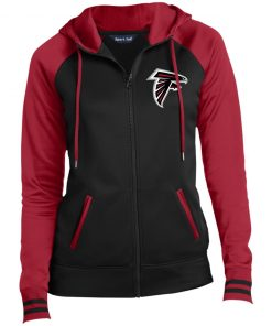 Private: Atlanta Falcons Ladies' Moisture Wick Full-Zip Hooded Jacket
