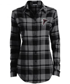Private: Atlanta Falcons Ladies' Plaid Flannel Tunic