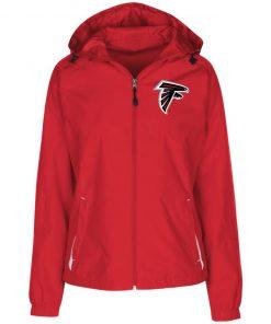 Private: Atlanta Falcons Ladies' Jersey-Lined Hooded Windbreaker