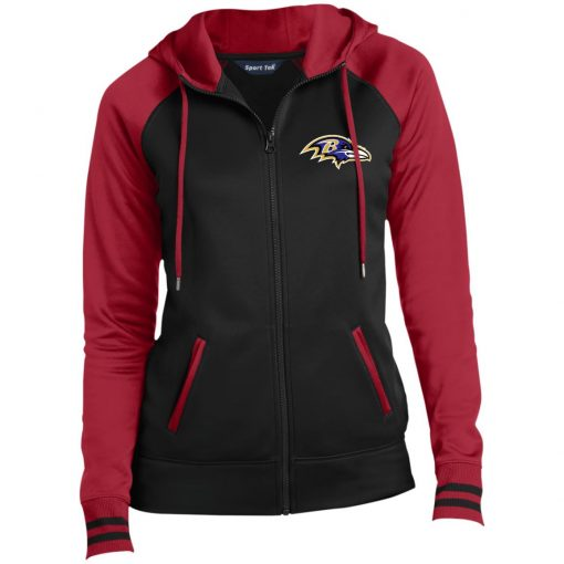 Private: Baltimore Ravens Ladies' Moisture Wick Full-Zip Hooded Jacket
