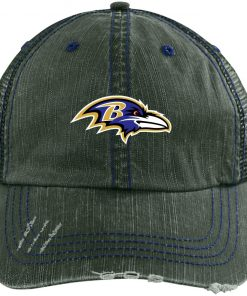 Private: Baltimore Ravens Distressed Unstructured Trucker Cap