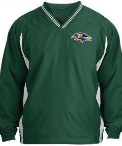 Private: Baltimore Ravens Tipped V-Neck Windshirt
