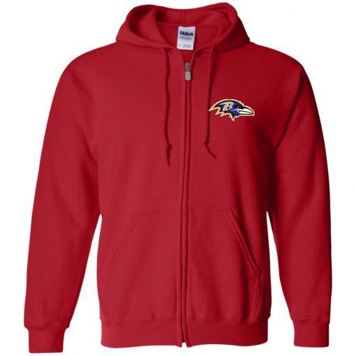 Private: Baltimore Ravens Zip Up Hooded Sweatshirt
