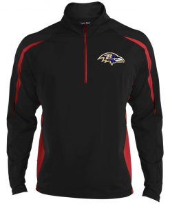 Private: Baltimore Ravens Men's Sport Wicking Colorblock 1/2 Zip
