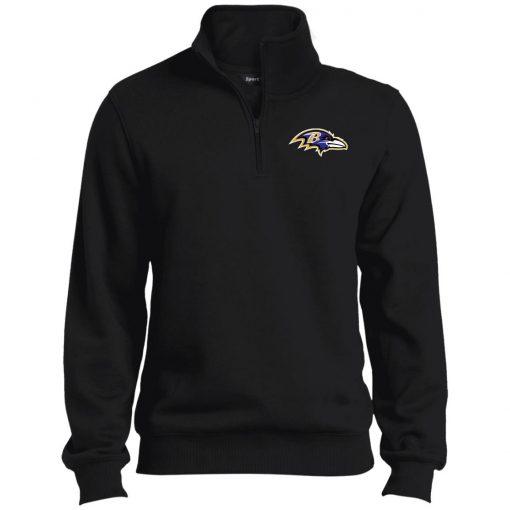 Private: Baltimore Ravens Tall 1/4 Zip Sweatshirt