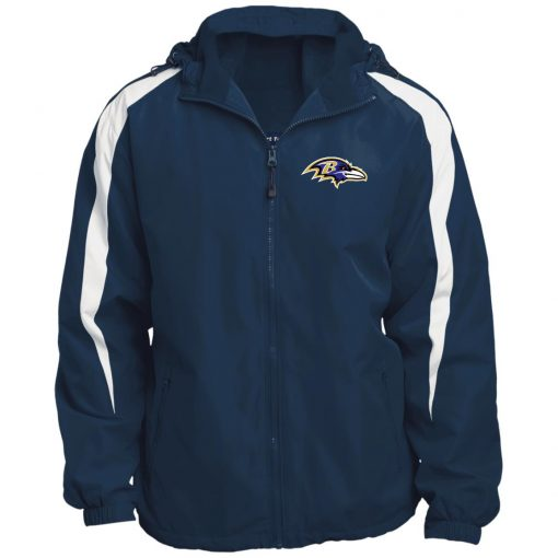 Private: Baltimore Ravens Fleece Lined Colorblocked Hooded Jacket