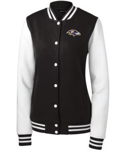 Private: Baltimore Ravens Women's Fleece Letterman Jacket