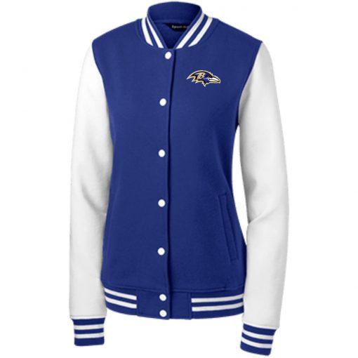 Private: Baltimore Ravens Women's Fleece Letterman Jacket