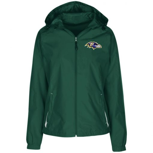 Private: Baltimore Ravens Ladies' Jersey-Lined Hooded Windbreaker