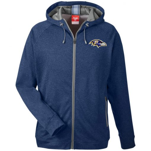 Private: Baltimore Ravens Men's Heathered Performance Hooded Jacket