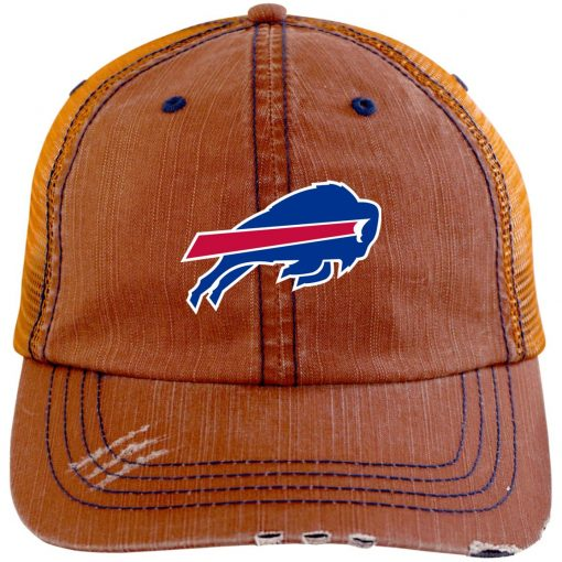 Private: Buffalo Bills Distressed Unstructured Trucker Cap