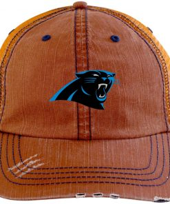 Private: Carolina Panthers Distressed Unstructured Trucker Cap